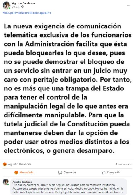 La telemafia de la Administración española causa desamparo